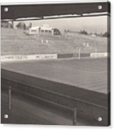 Reading - Elm Park - Reading End 1 - Bw - 1968 Acrylic Print