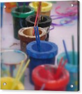 Ready   Set    Paint Acrylic Print