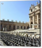 Ready For Pope's Appearance Acrylic Print
