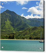 Ready To Sail In Hanalei Bay Acrylic Print