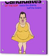 Real Candidates Of The Gop - Chris Christie - The Man-eater Acrylic Print