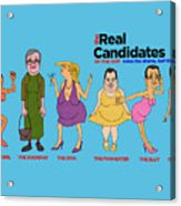 Real Candidates Of The Gop -clear Background Version 2 Acrylic Print