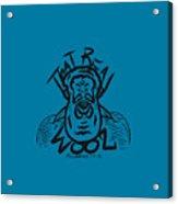 Real Wool Blue Acrylic Print
