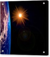 Realistic Illustration Of Earth And Sun Acrylic Print