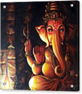Portrait Of Lord Ganapathy Ganesha Acrylic Print