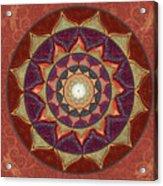 Realm Of The Desert Lotus Mandala Acrylic Print