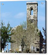 Rear View Fuerty Church And Cemetery Roscommon Ireland Acrylic Print