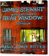Rear Window, Grace Kelly, James Acrylic Print by Everett