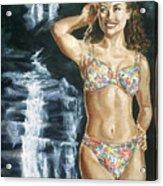 Rebecca Gayheart Acrylic Print