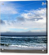 Receding Fog Seascape Acrylic Print