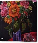 Recital Bouquet Acrylic Print by Emily Michaud