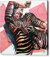 Reclined Striped And Symbolic  Acrylic Print