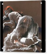 Reclining Figure With Skirt Acrylic Print