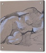 Reclining Nude 2 Acrylic Print