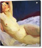 Reclining Nude Barbara Brown 1916 Acrylic Print