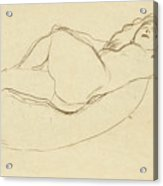 Reclining Nude Facing Right Acrylic Print