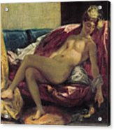 Reclining Odalisque Acrylic Print by Ferdinand Victor Eugene Delacroix