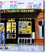 Reconnoiter Parisian Stores In Your Dreams Acrylic Print