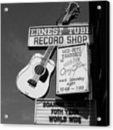 Record Shop- By Linda Woods Acrylic Print