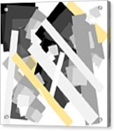 Rectangles With Yellow Accent Acrylic Print