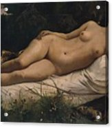 Recumbent Nymph Acrylic Print by Anselm Feuerbach
