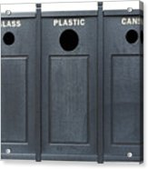 Recycle Bins For Glass Plastic Cans Acrylic Print