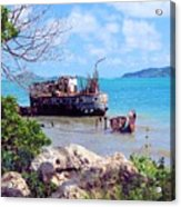 Recycled In Grenada Acrylic Print