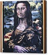 Recycled Mona Acrylic Print