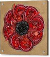 Recycled Poppy Acrylic Print