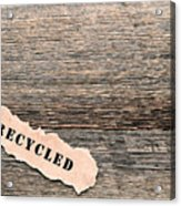 Recycled Wood Acrylic Print