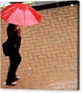 Red 1 - Umbrellas Series 1 Acrylic Print
