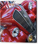 Red 1938 Plymouth Acrylic Print