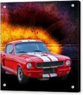 Red 1966 Mustang Fastback Acrylic Print