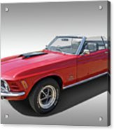 Red 1970 Mach 1 Mustang 351 Cleveland Acrylic Print