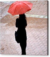 Red 2 - Umbrellas Series 1 Acrylic Print