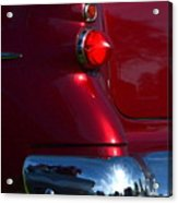 Red 50's Classic Tail Light Acrylic Print