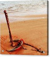 Red Anchor Acrylic Print