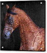 Red Ancient Horse No 01 Acrylic Print