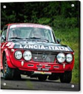 Red And Black Lancia Fulvia Acrylic Print