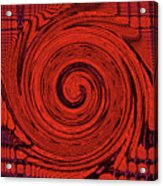 Red And Black Swirl - Modern/contemporary Painting Acrylic Print