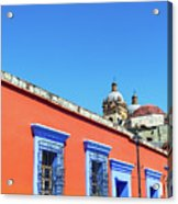 Red And Blue Colonial Architecture Acrylic Print