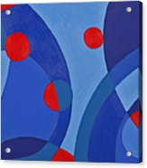 Red And Blue Worlds Acrylic Print