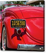 Red And Chrome Acrylic Print