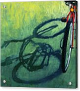 Red And Green - Bike Art Acrylic Print by Linda Apple