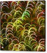 Red And Green Half Circle Lights Abstract Acrylic Print