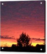 Red And Orange June Dawn Sky Acrylic Print