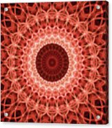 Red And Orange Mandala Acrylic Print