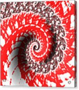 Red And White Fractal Acrylic Print