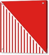 Red And White Triangles Acrylic Print