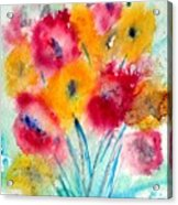 Red And Yellow Flowers Acrylic Print